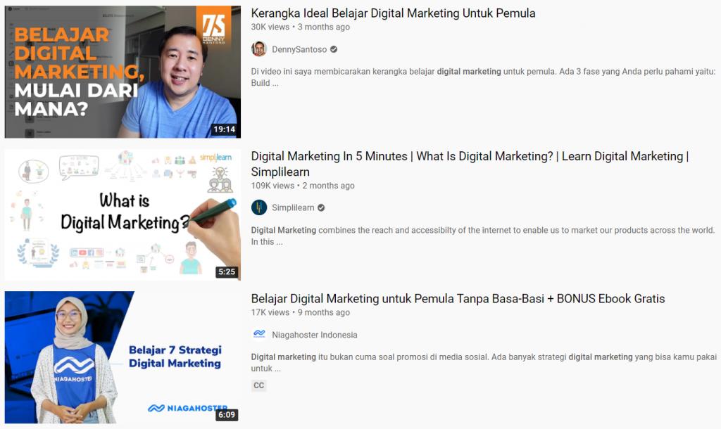 contoh judul dan thumbnail youtube