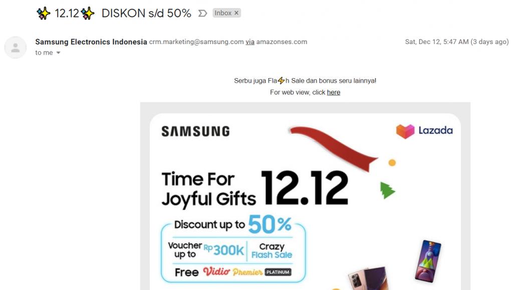 email marketing samsung