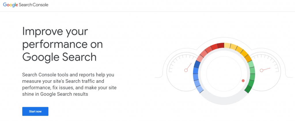 halaman utama google search console seo tools