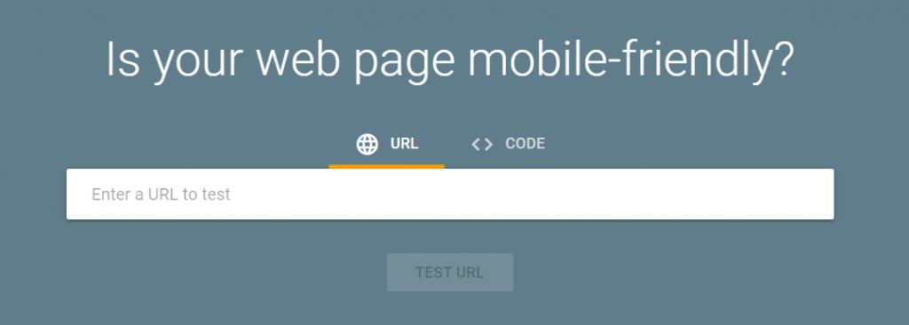 halaman utama google friendly test
