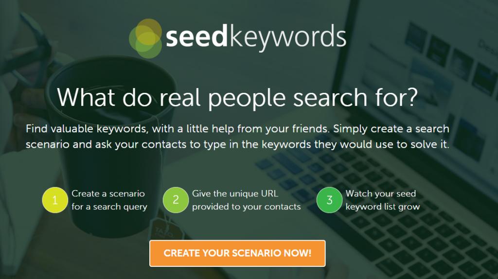 halaman utama seed keywords