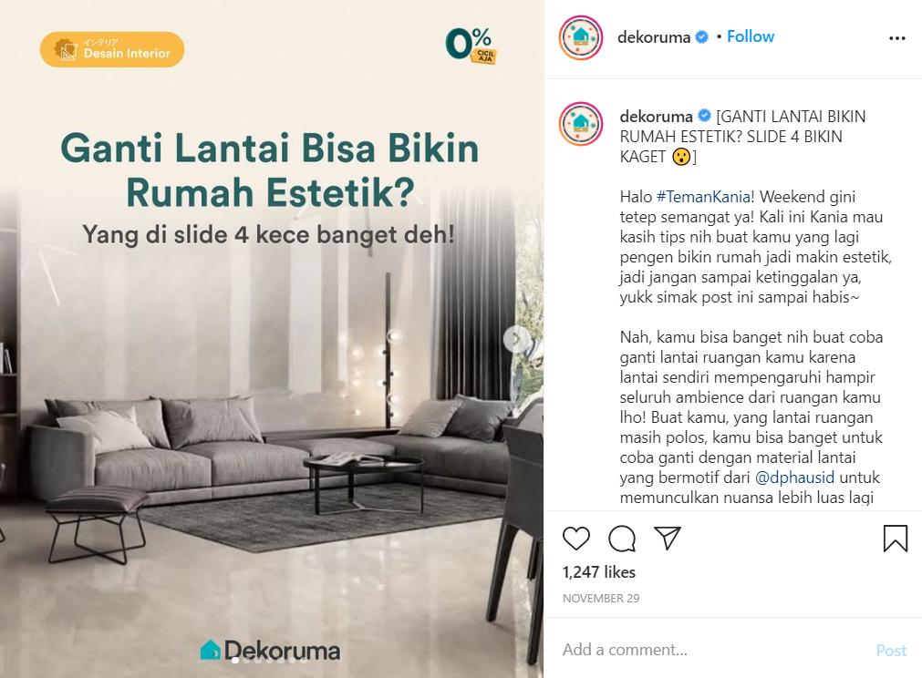 konten instagram dekoruma