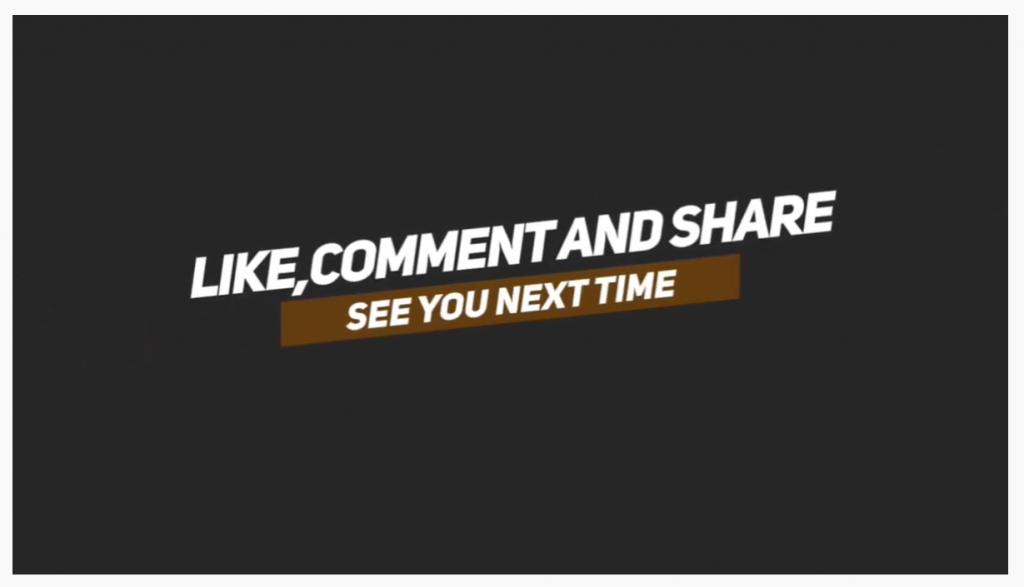 layar share dan subscribe