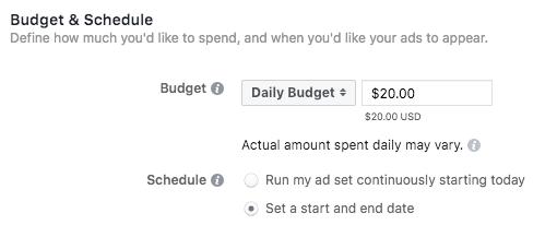 atur budget instagram ads