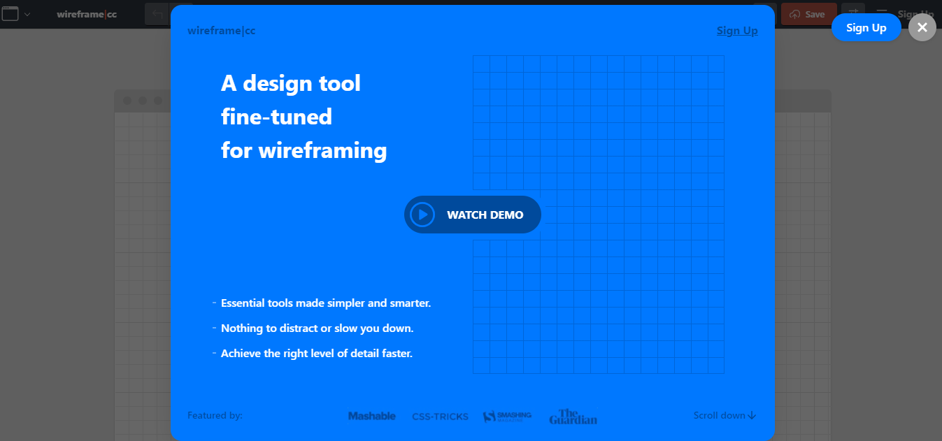 wireframecc mockup website