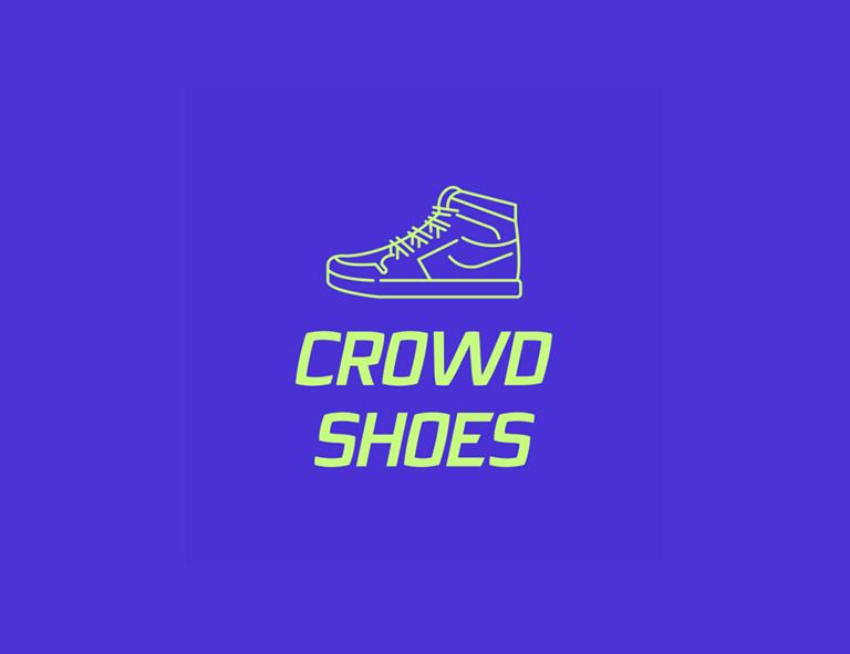 contoh desain logo crowd shoes