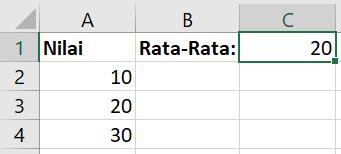 contoh hasil penggunaan rumus average