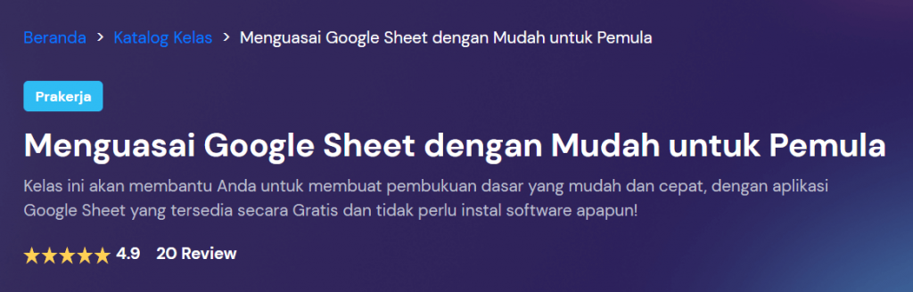 kelas google sheets bitlabs