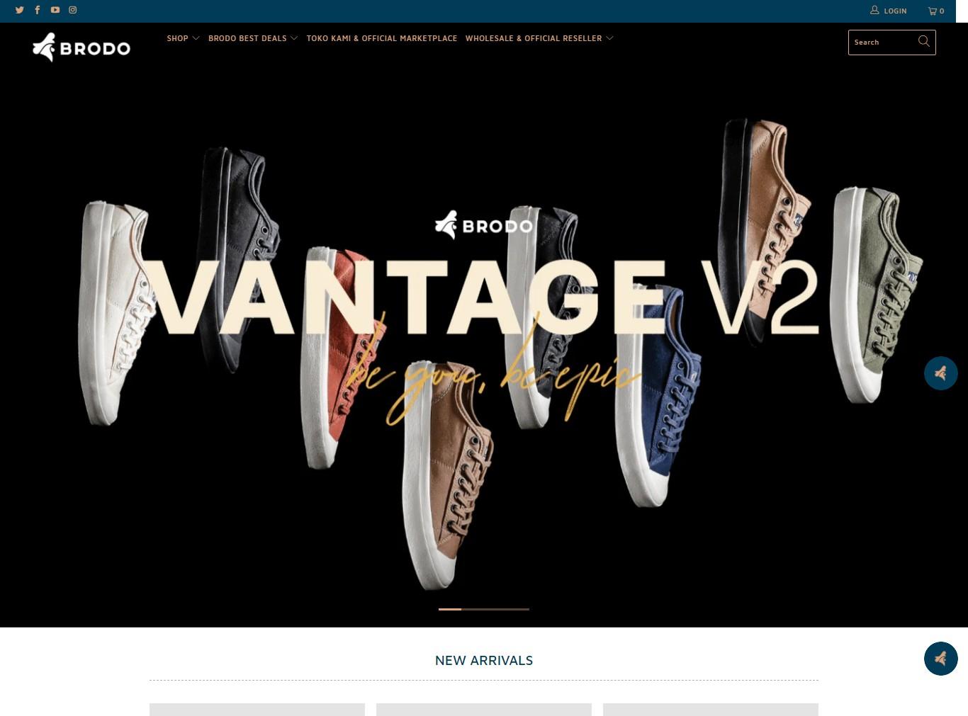 homepage toko online brodo